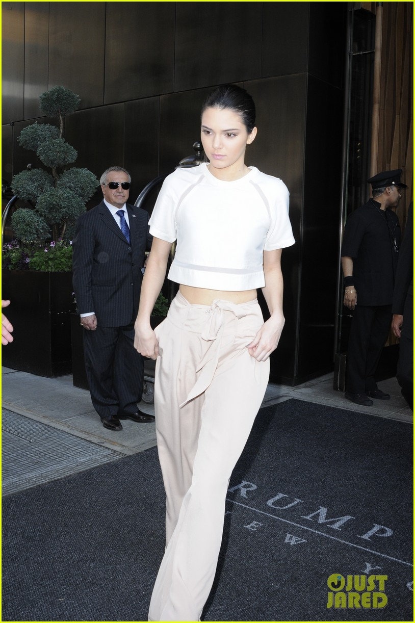 kendall kylie jenner hotel arrival exit nyc 073126695