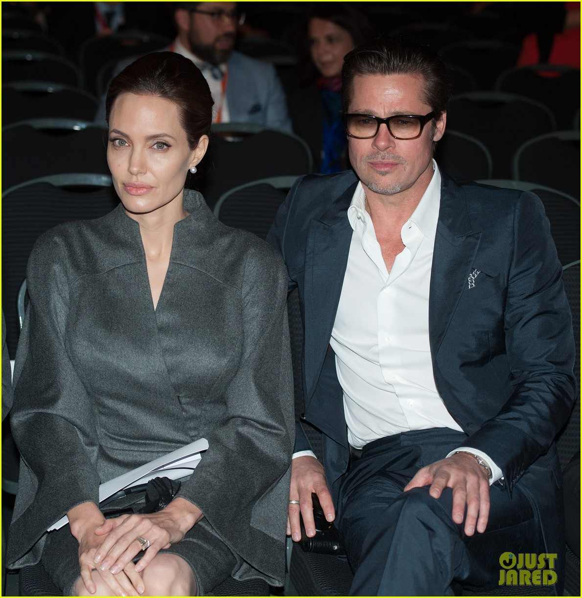 angelina jolie brad pitt keep hand in hand at the global summit end sexual violence 023134580