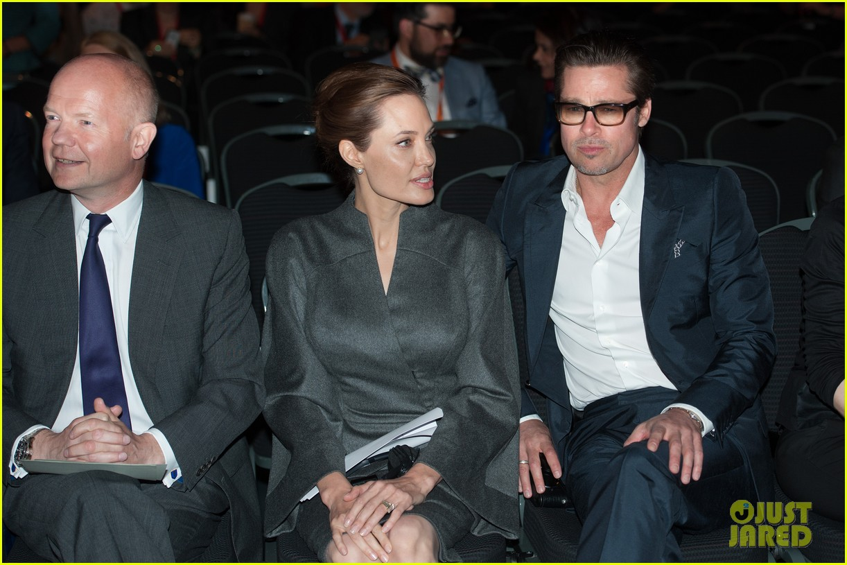 angelina jolie brad pitt keep hand in hand at the global summit end sexual violence 173134595