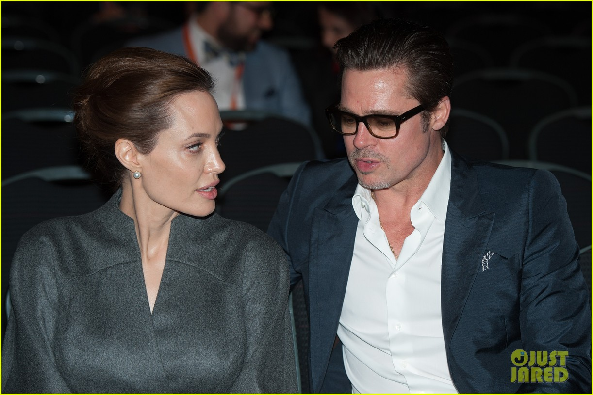 angelina jolie brad pitt keep hand in hand at the global summit end sexual violence 183134596