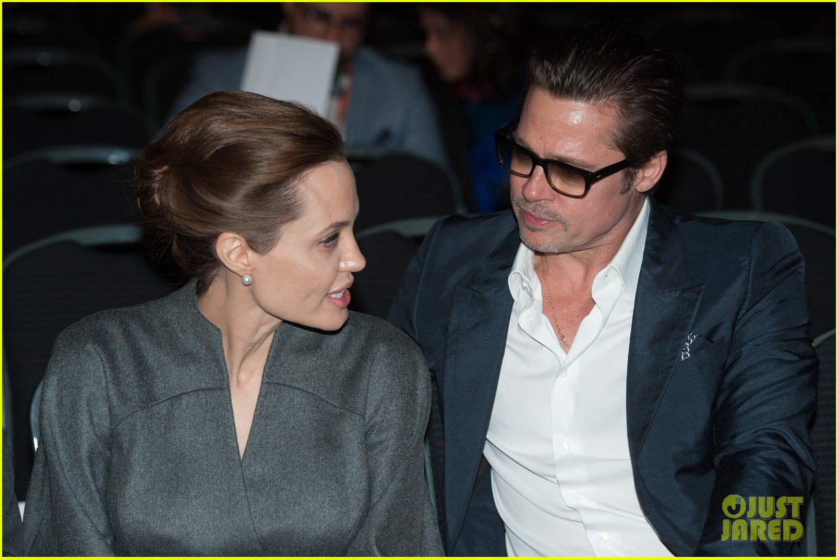 angelina jolie brad pitt keep hand in hand at the global summit end sexual violence 193134597