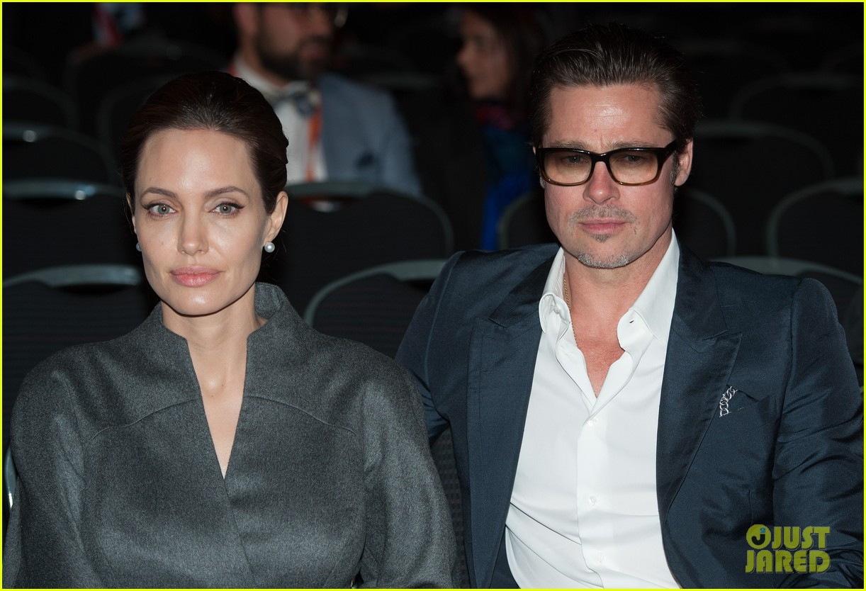 angelina jolie brad pitt keep hand in hand at the global summit end sexual violence 21