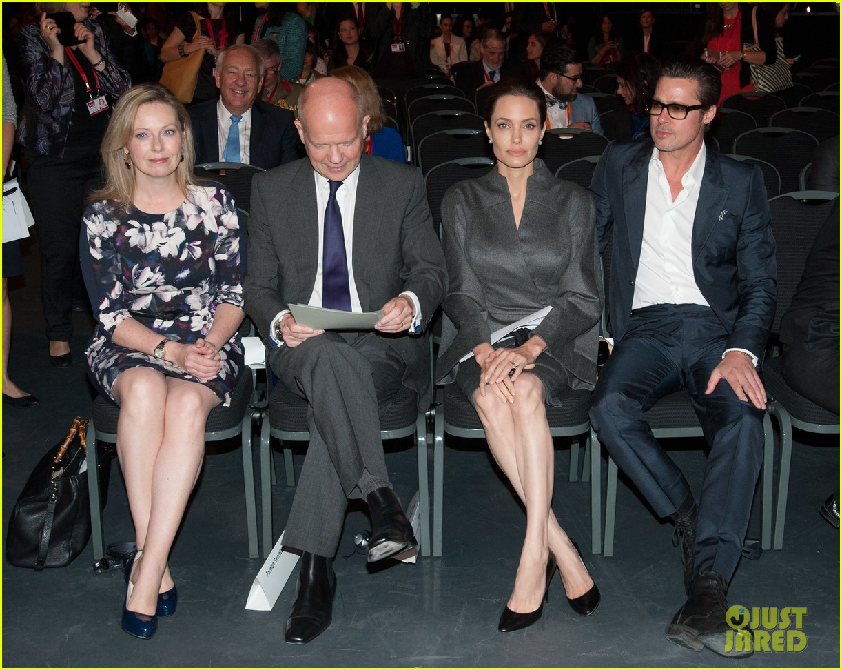 angelina jolie brad pitt keep hand in hand at the global summit end sexual violence 223134600