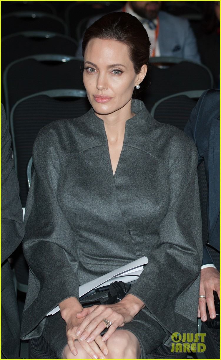 angelina jolie brad pitt keep hand in hand at the global summit end sexual violence 243134602