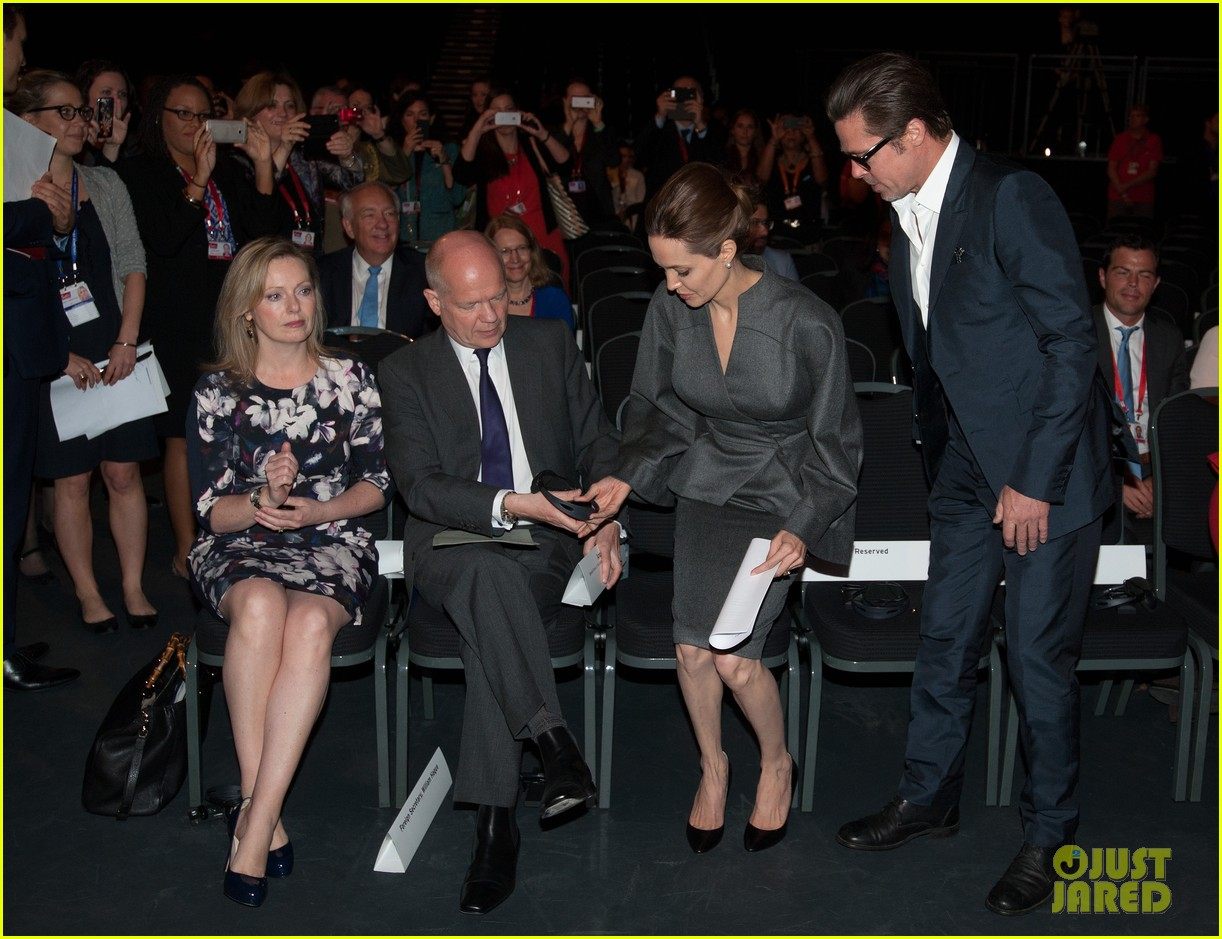 angelina jolie brad pitt keep hand in hand at the global summit end sexual violence 263134604