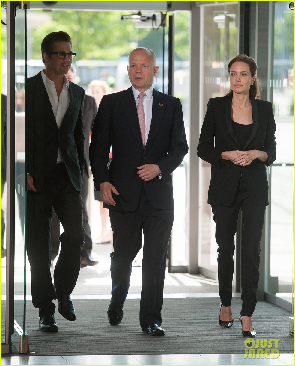 brad pitt supports wife angelina jolie at day three of global summit 013133775