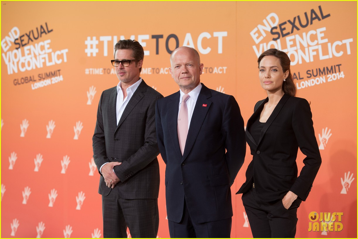 brad pitt supports wife angelina jolie at day three of global summit 053133779