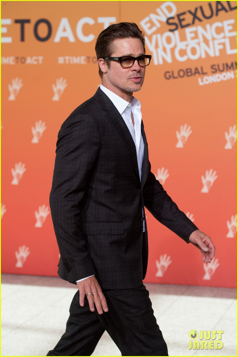 brad pitt supports wife angelina jolie at day three of global summit 083133782