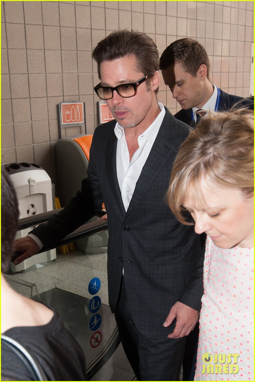 brad pitt supports wife angelina jolie at day three of global summit 093133783