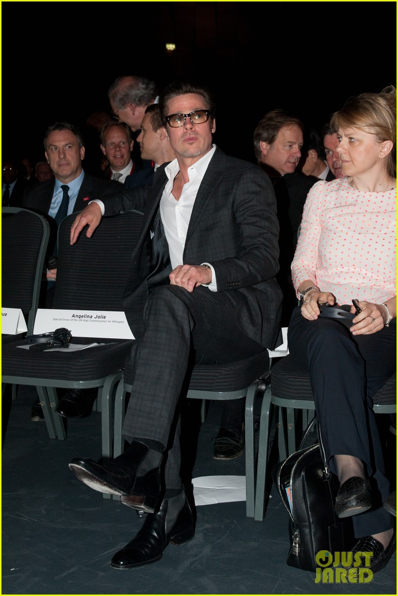 brad pitt supports wife angelina jolie at day three of global summit 103133784