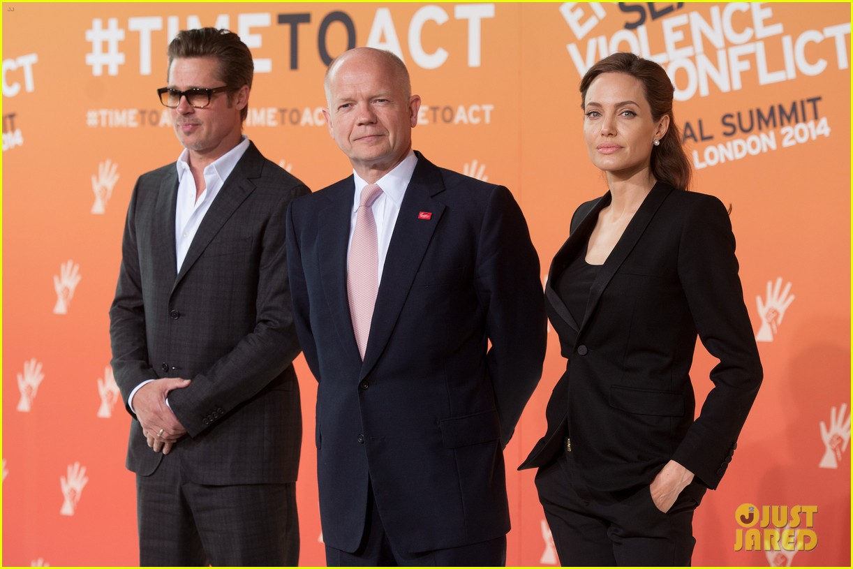 brad pitt supports wife angelina jolie at day three of global summit 113133785