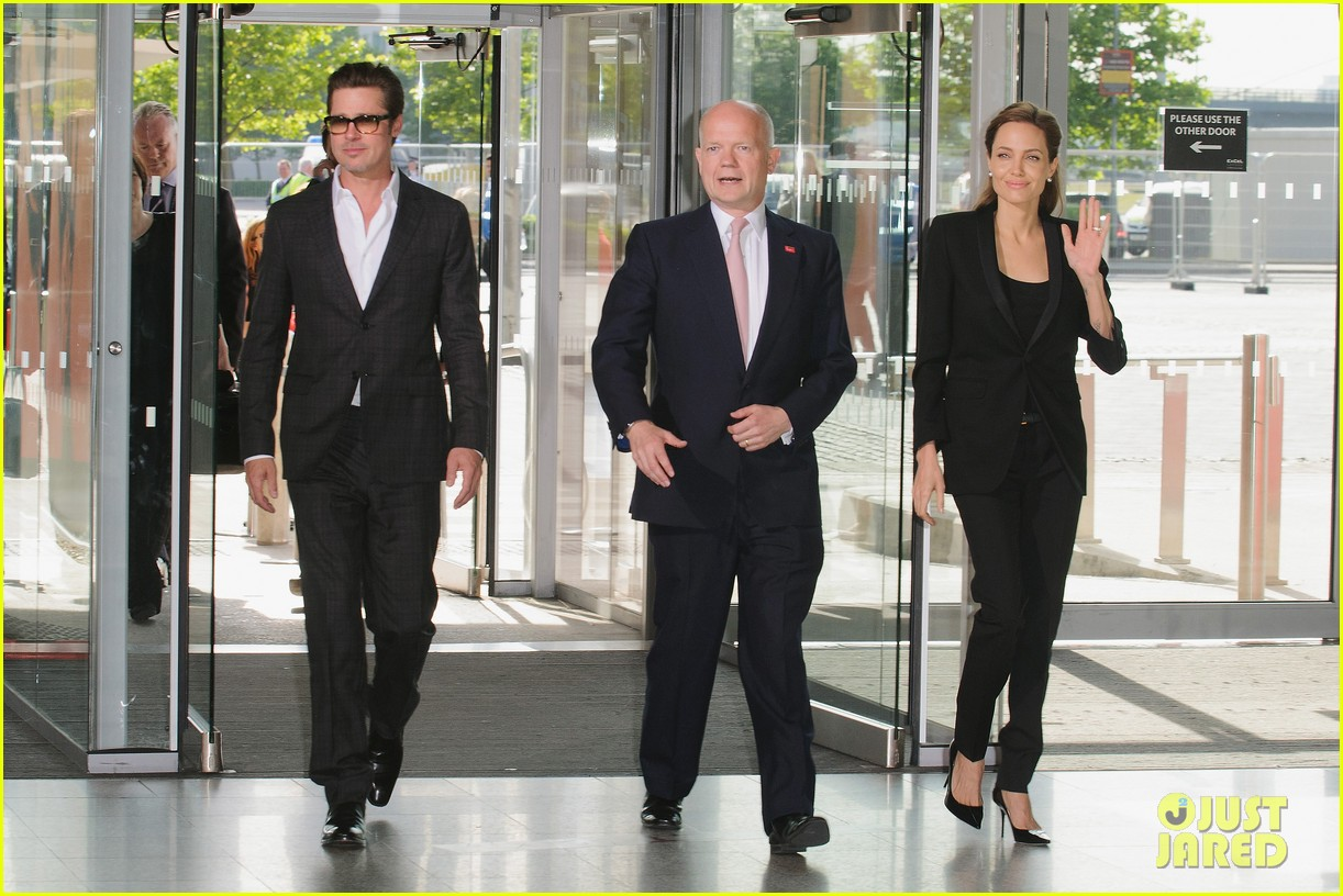 brad pitt supports wife angelina jolie at day three of global summit 193133793