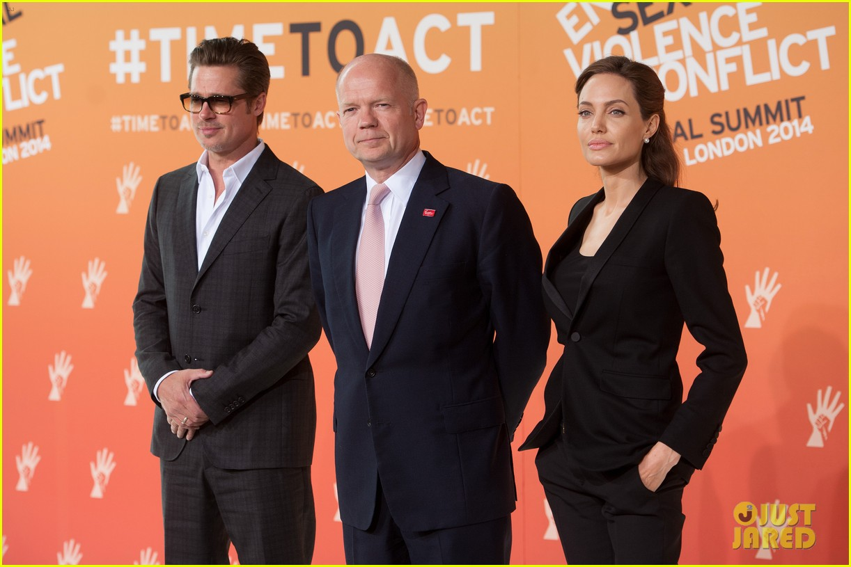 brad pitt supports wife angelina jolie at day three of global summit 23