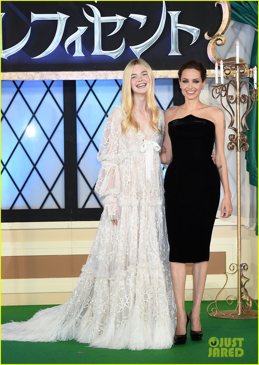angelina jolie elle fanning hit japan in style for maleficent 053141839