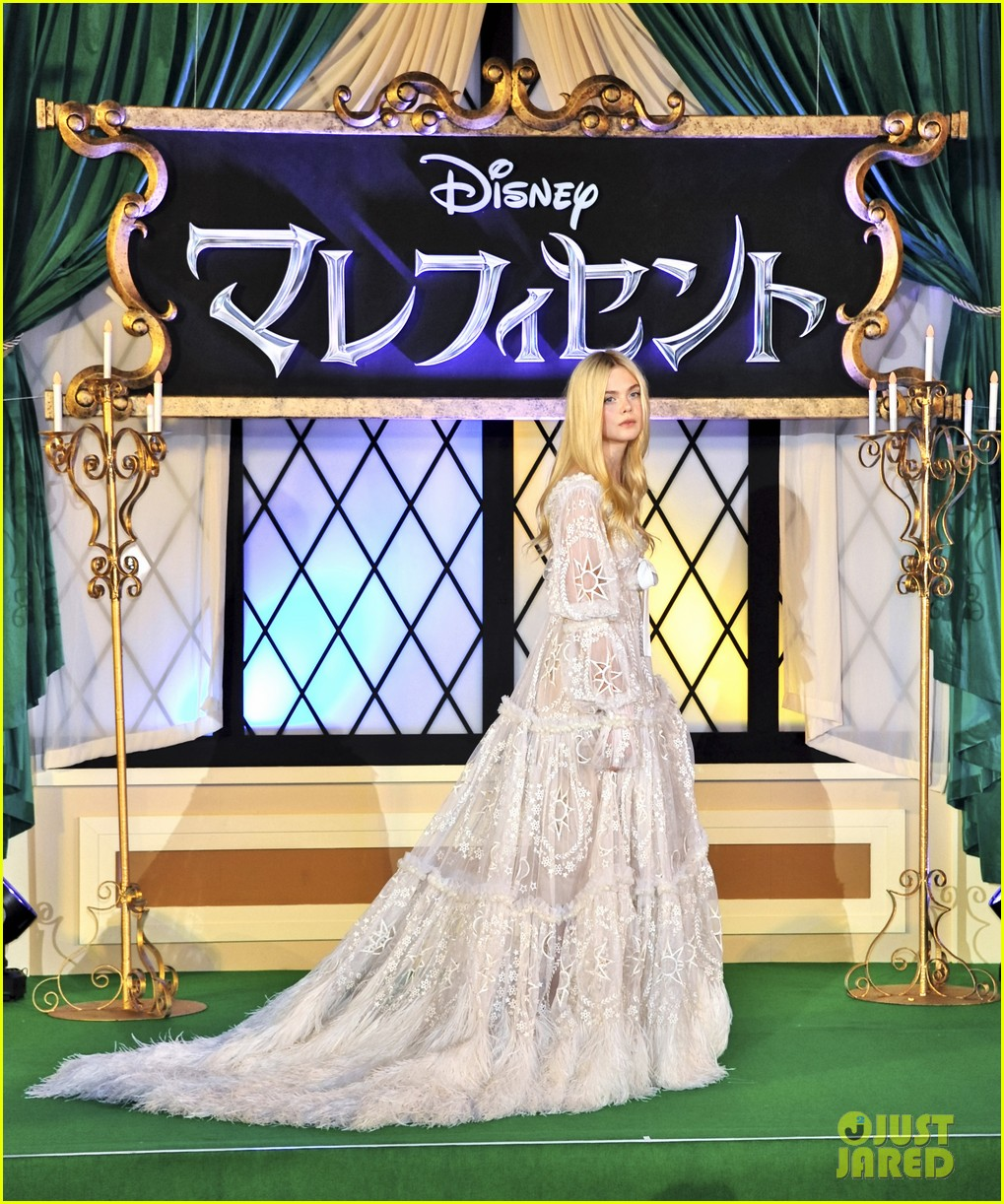 angelina jolie elle fanning hit japan in style for maleficent 253141859