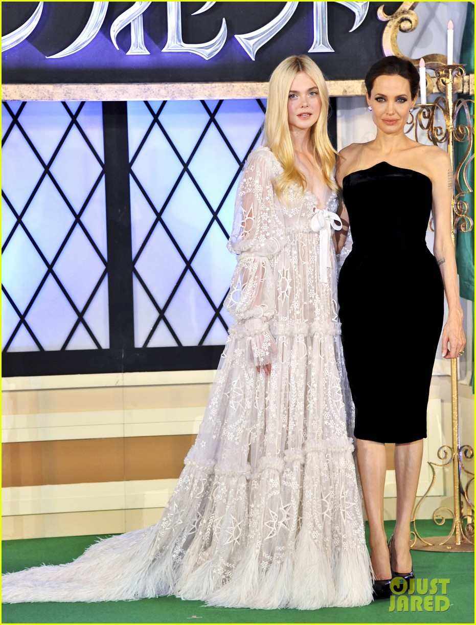 angelina jolie elle fanning hit japan in style for maleficent 293141863