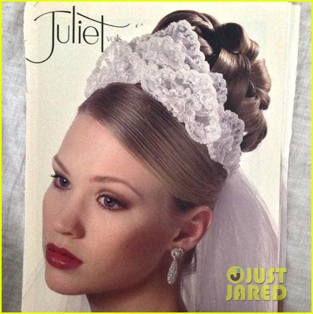 january jones throwback photo bridal model 023134389