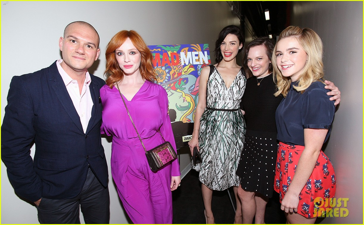 january jones christina hendricks join cast of mad men at deadline screening 073128009