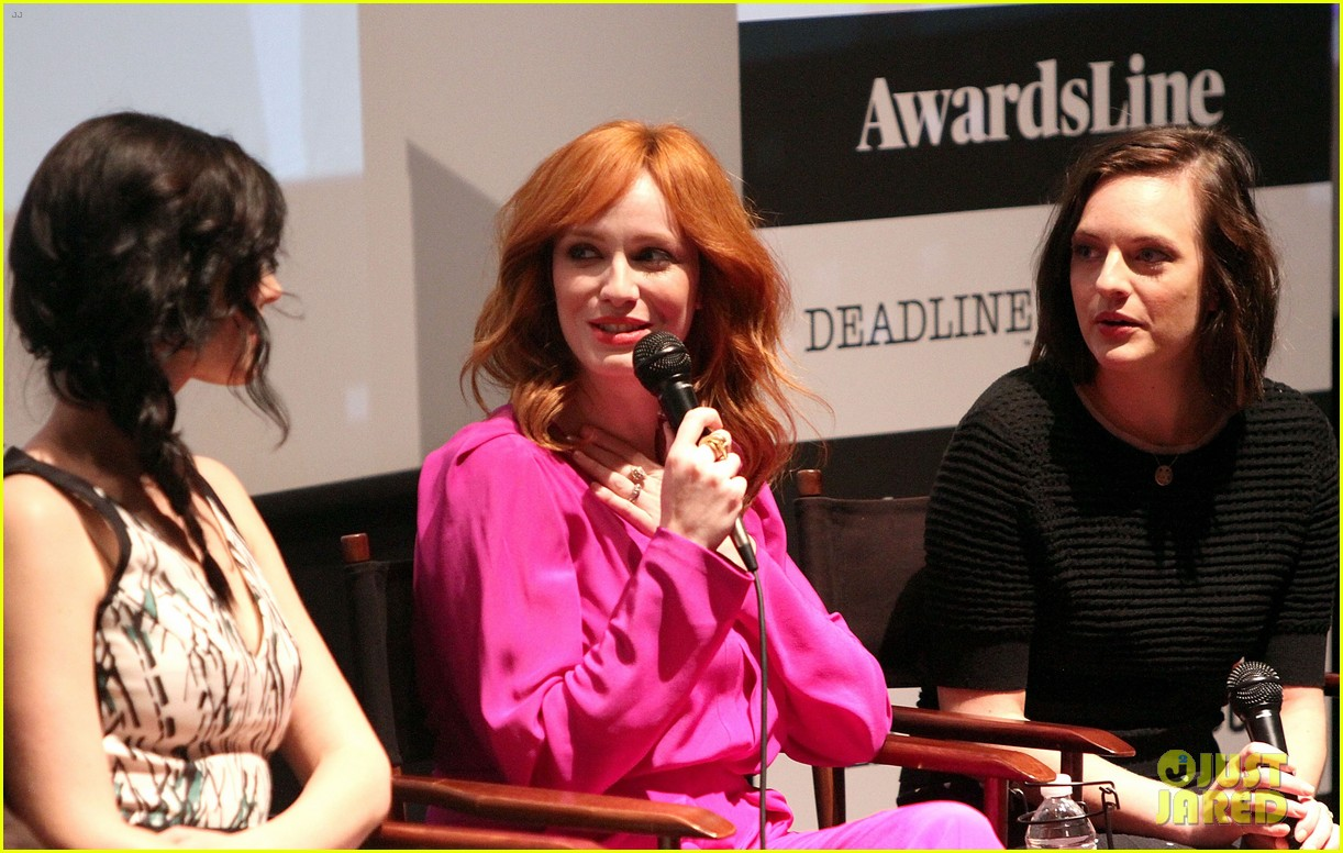 january jones christina hendricks join cast of mad men at deadline screening 16