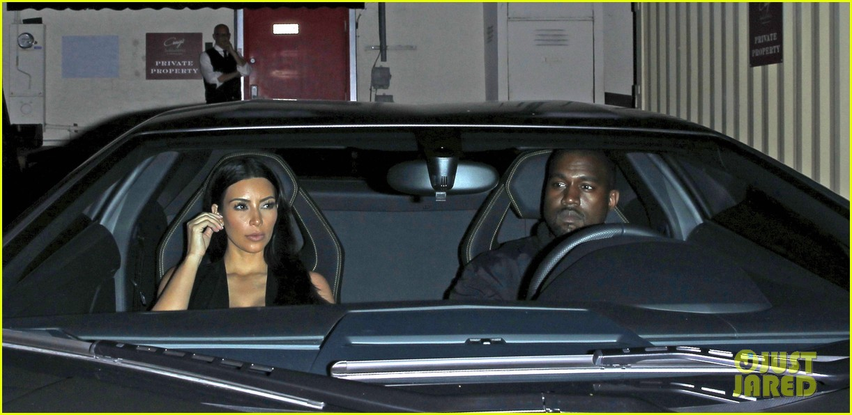kim kardashian kanye west step out for dinner at craigs 033141674