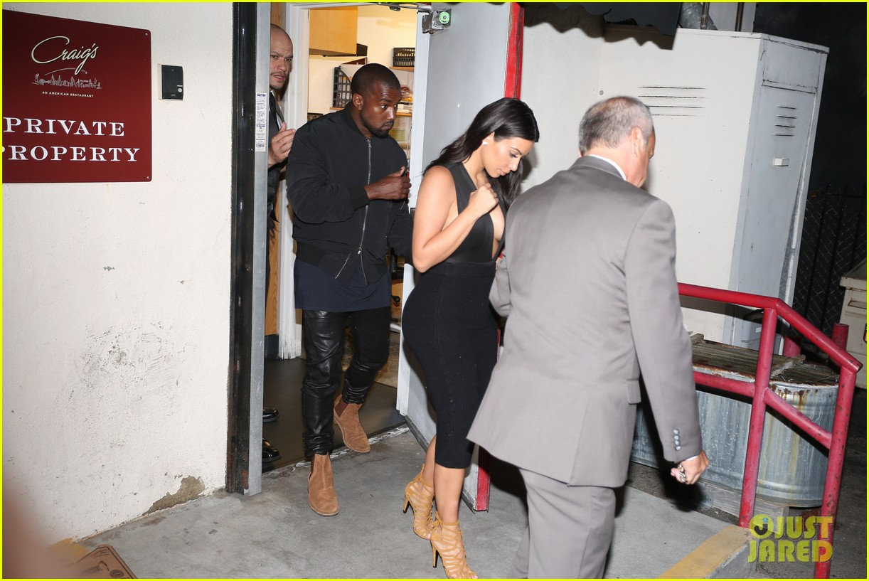 kim kardashian kanye west step out for dinner at craigs 053141676