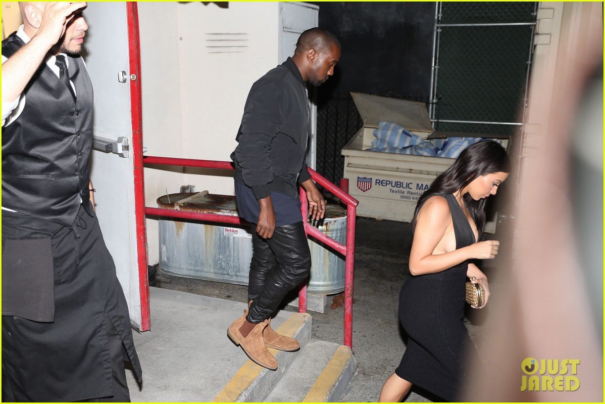 kim kardashian kanye west step out for dinner at craigs 07