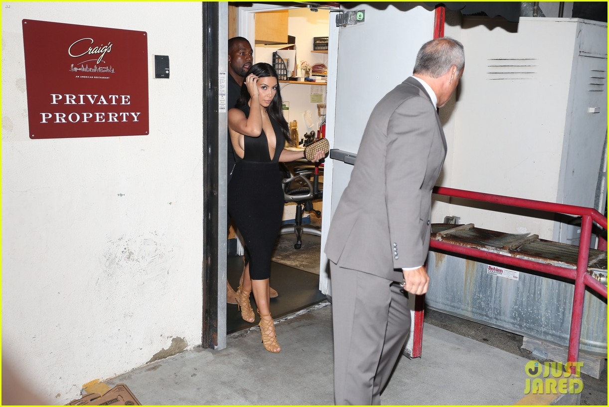 kim kardashian kanye west step out for dinner at craigs 103141681