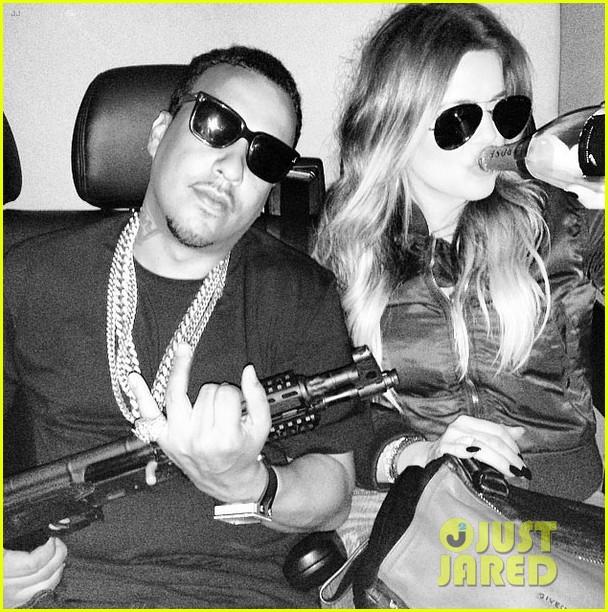 khloe kardashian under fire gun photo on instagram 033126631