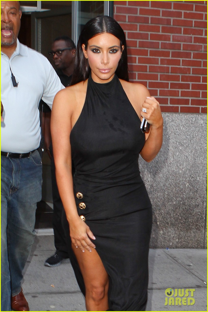 kim kardashian shows off legs for days sexy slit dress 023144299