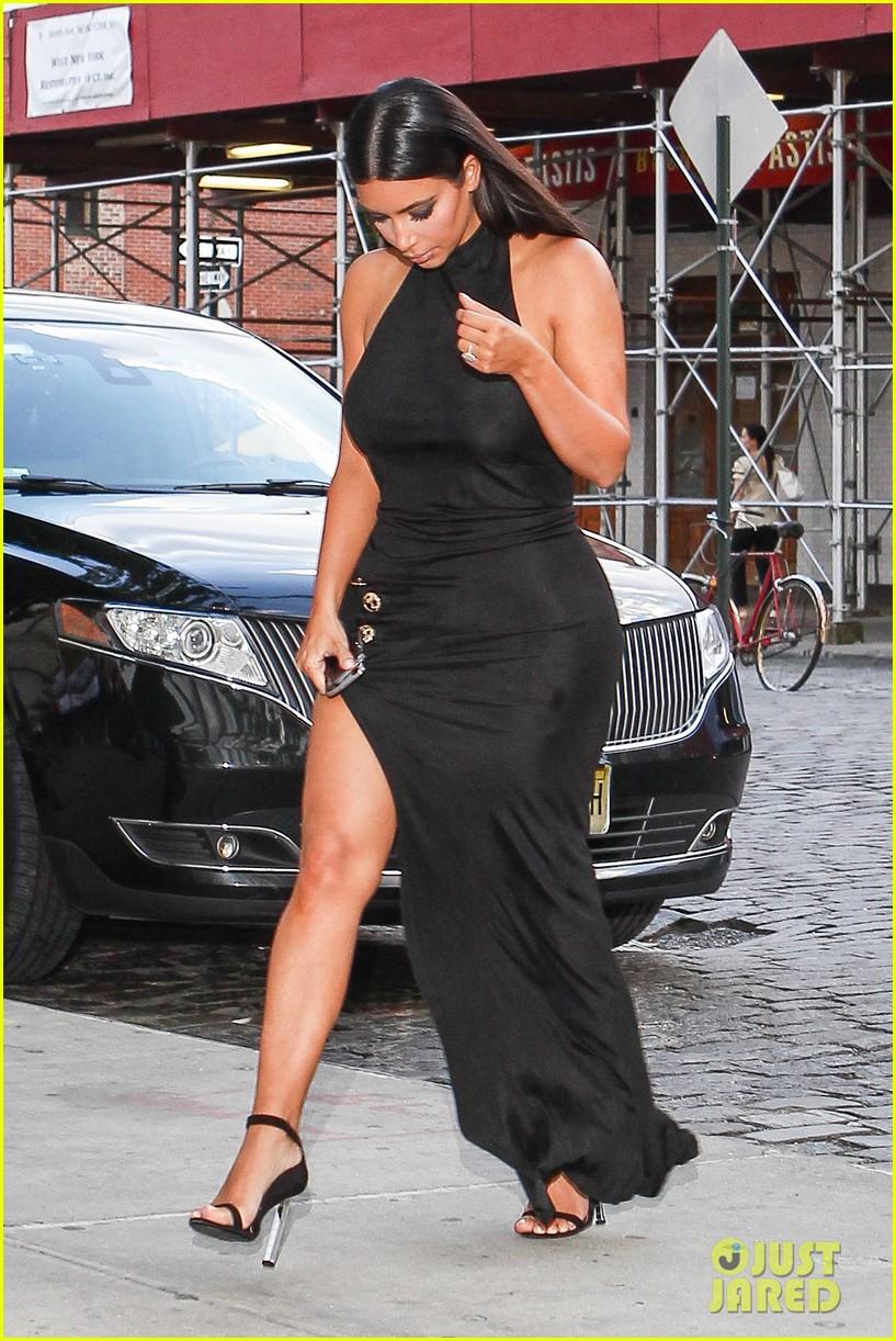kim kardashian shows off legs for days sexy slit dress 033144300