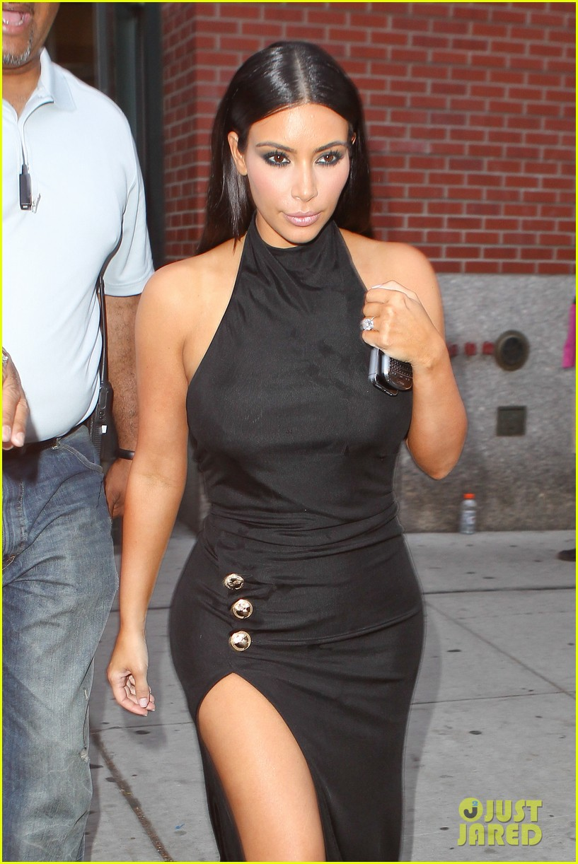 kim kardashian shows off legs for days sexy slit dress 043144301
