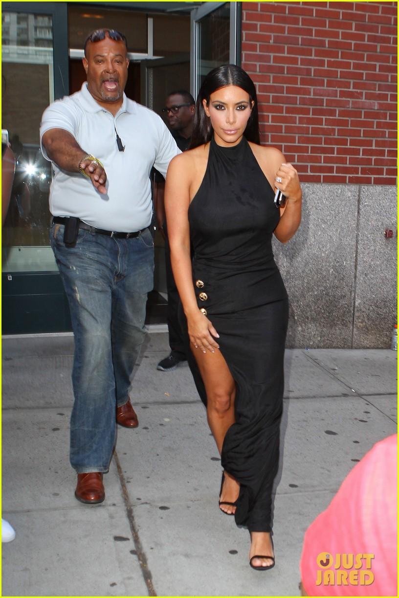kim kardashian shows off legs for days sexy slit dress 11