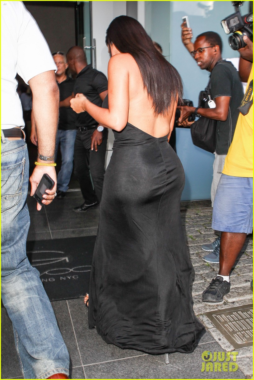 kim kardashian shows off legs for days sexy slit dress 193144316