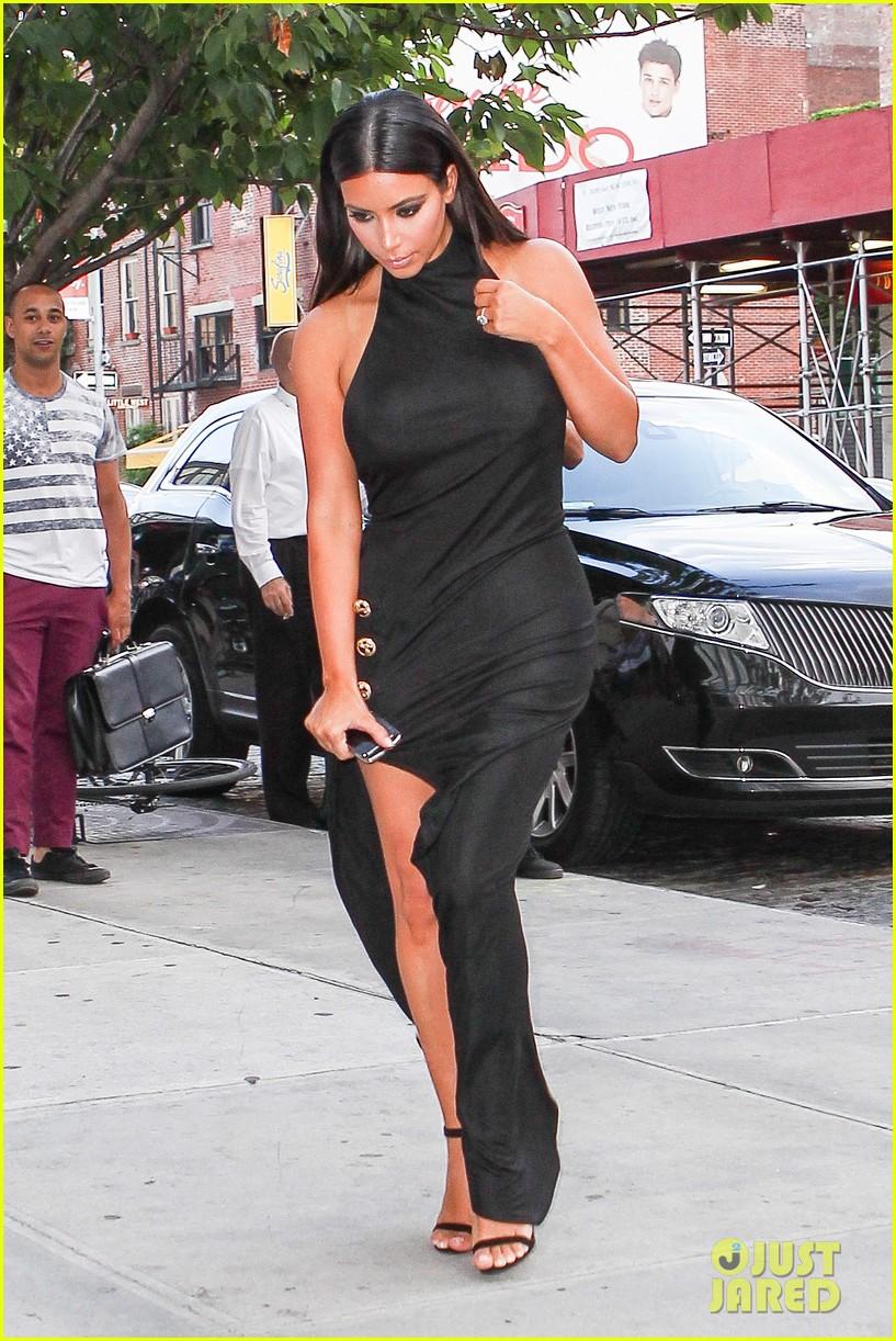 kim kardashian shows off legs for days sexy slit dress 23
