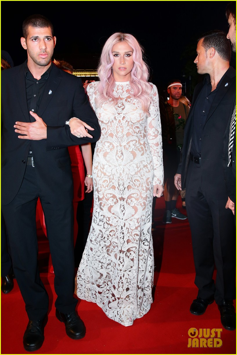 kesha jumps for joy after attending life ball in vienna 043125631