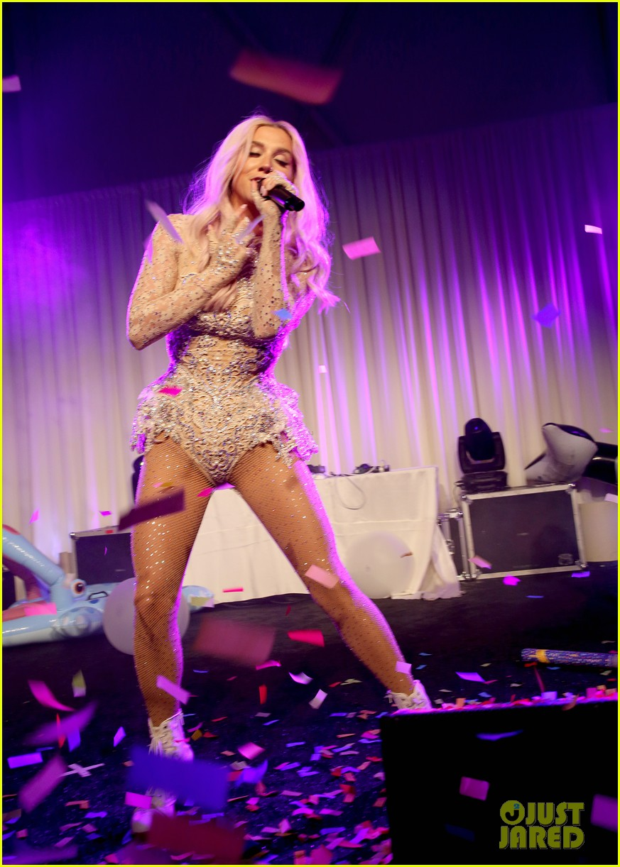 kesha wears sparkly sexy leotard for performance 033134055