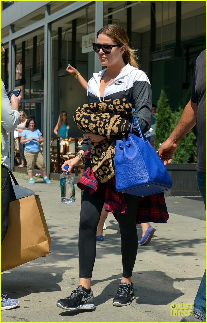 khloe kardashian french montana work off food after birthday celebration 013145635