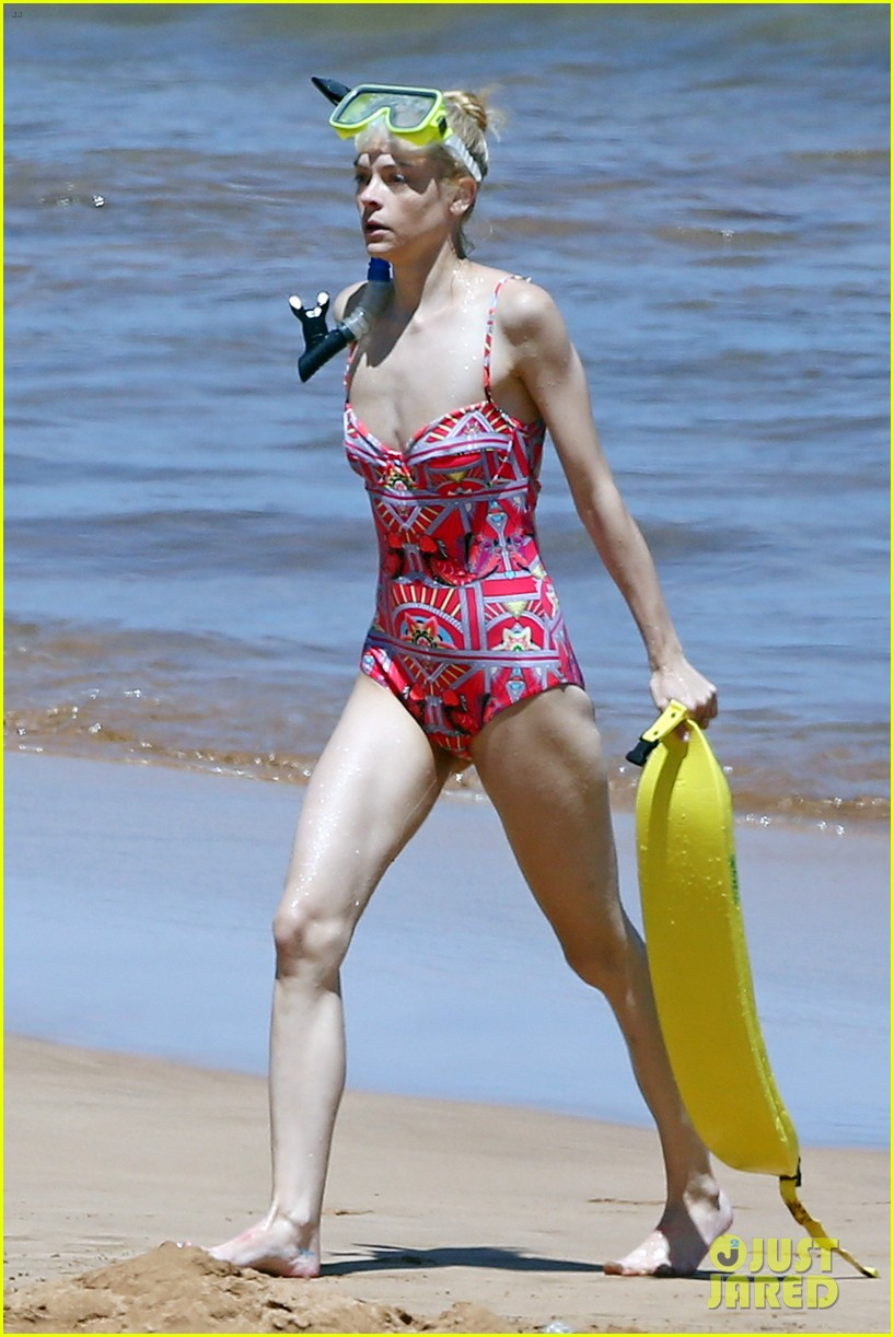 jaime king one piece swimsuit snorkeling hawaii 013137415