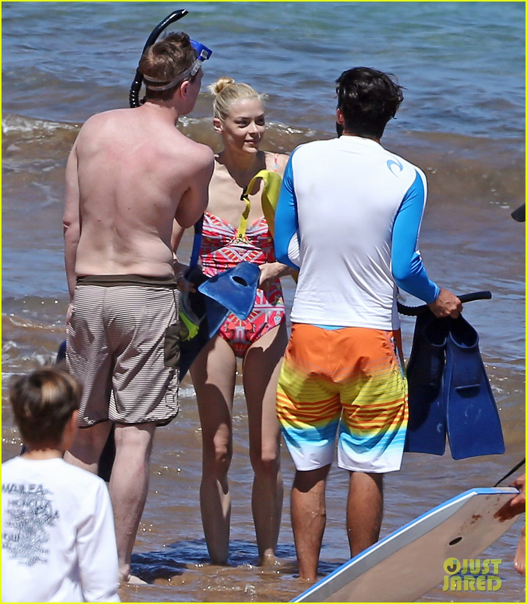 jaime king one piece swimsuit snorkeling hawaii 033137417