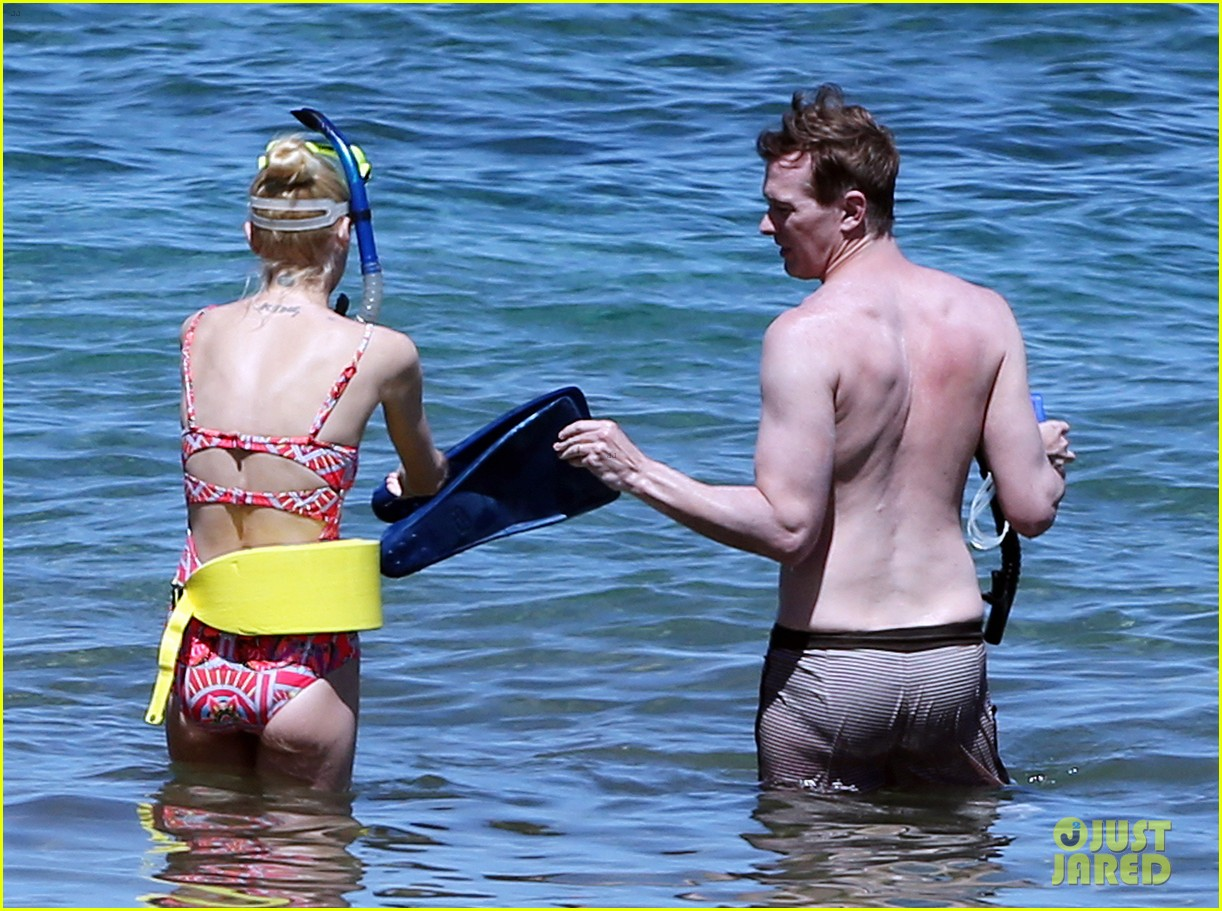 jaime king one piece swimsuit snorkeling hawaii 153137429