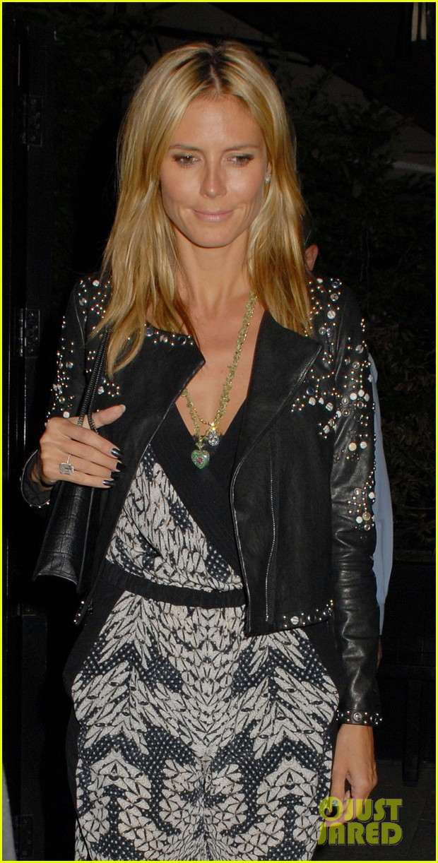 heidi klum parties at chiltern firehouse with beau vito schnabel 073141623