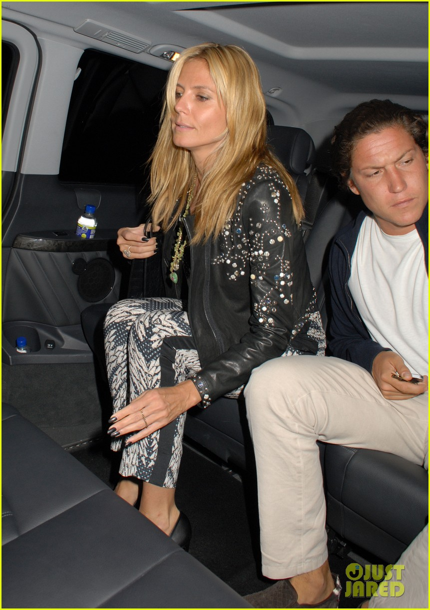 heidi klum parties at chiltern firehouse with beau vito schnabel 083141624