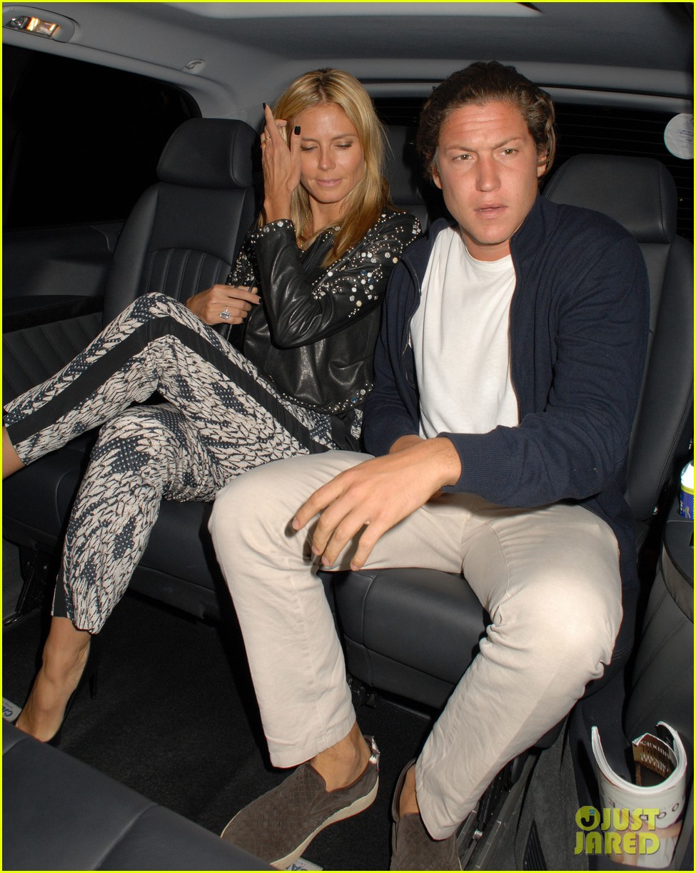 heidi klum parties at chiltern firehouse with beau vito schnabel 093141625