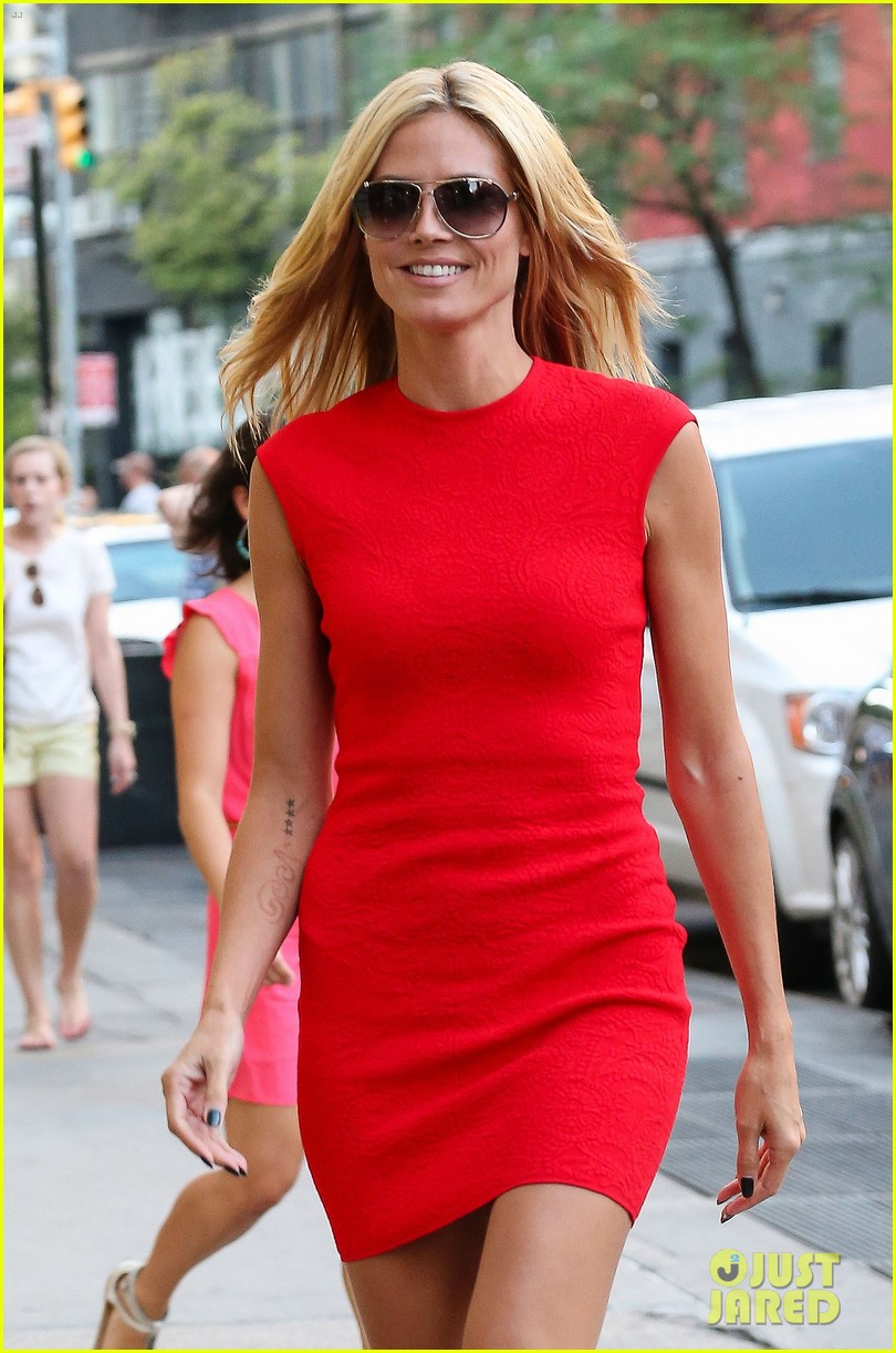 heidi klum is red hot in soho before america's got talent 053143001