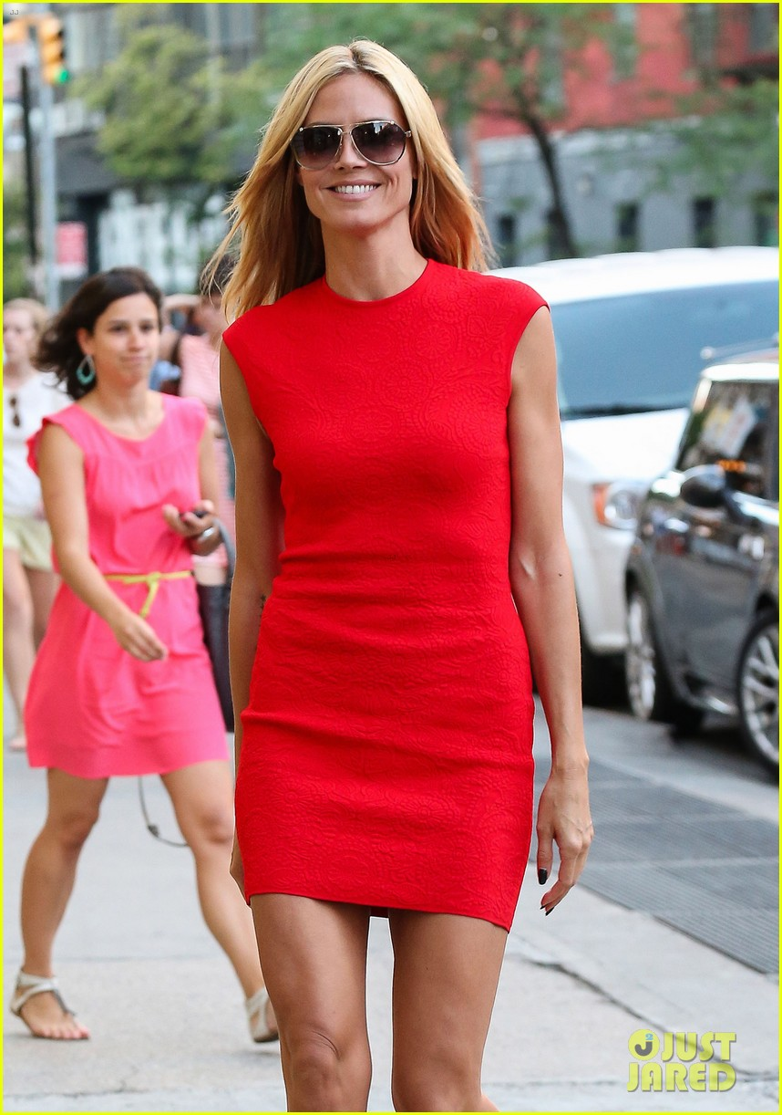 heidi klum is red hot in soho before america's got talent 09