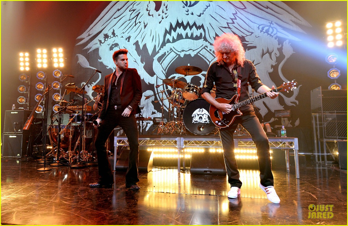 Image result for queen and adam lambert on stage