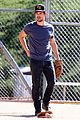 taylor lautner buff arms run the tide baseball pitch 22