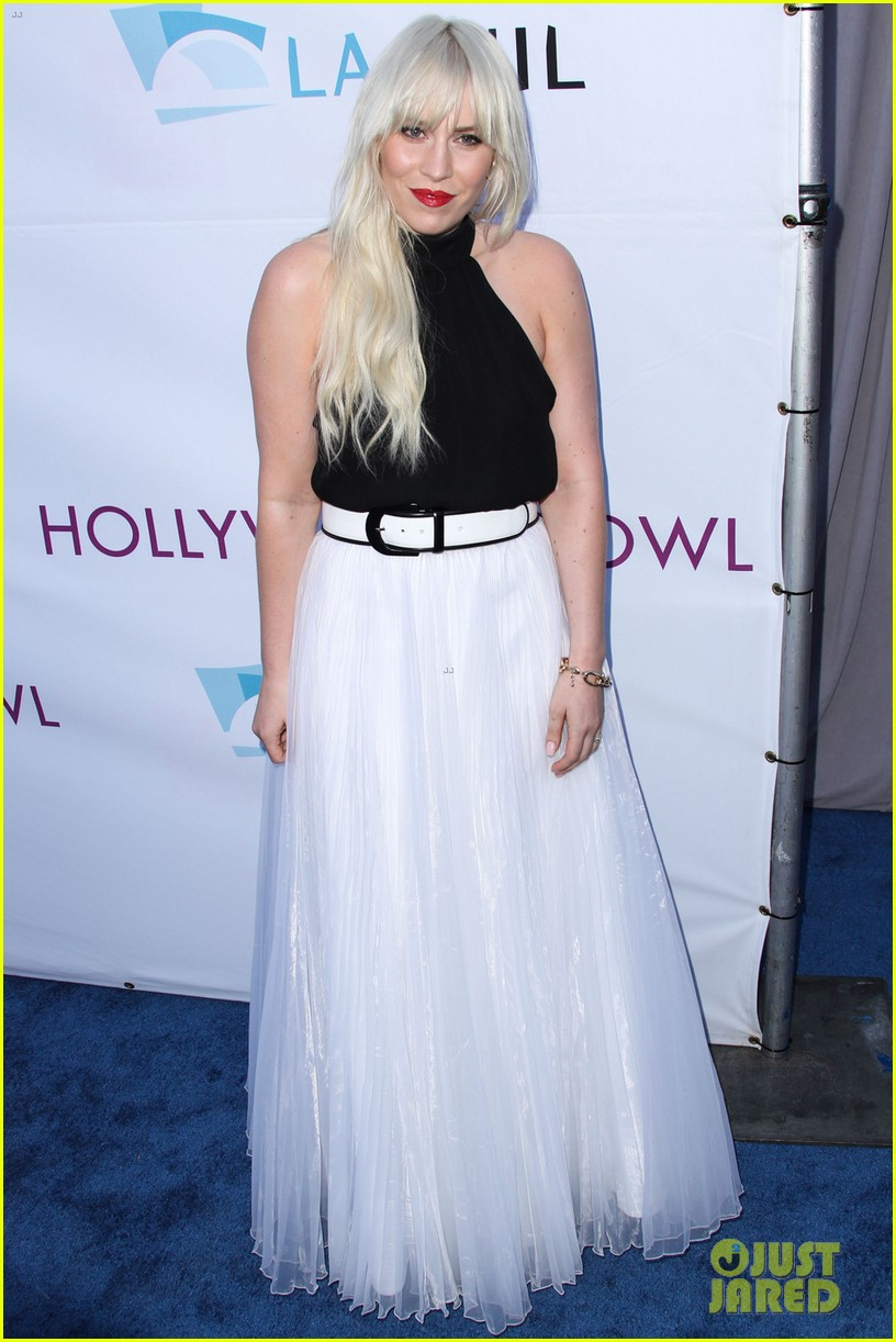 lea michele kristin chenoweth hollywood bowl hall fame 043141156
