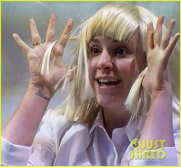 Lena dunham performs interpretive dance to sias chandelier on lena dunham performs interpretive dance to sias chandelier on late night watch now aloadofball