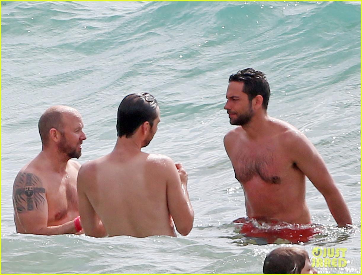 zachary levi shirtless hawaii beach vacation 203134961